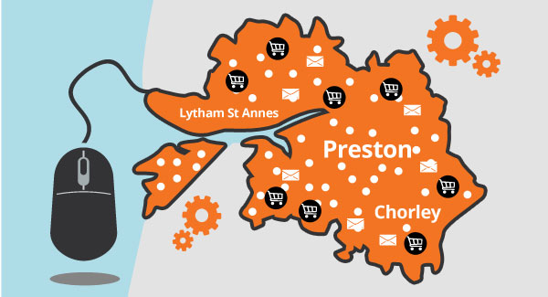Map: Preston, Lytham St Annes and Chorley